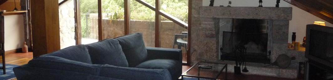 Casa do Alto - Cabecera - Apartamento de arriba - Sala de estar/comedor/biblioteca